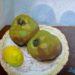 絵画教室で描く!サヨさんのラ・フランスの静物画F3