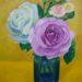 絵画教室で描く!サヨさんのバラの油彩画F3