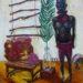 絵画教室で描く!アフリカの大モチーフ油彩画6点の競演