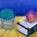 絵画教室で描く!マリちゃんの新作アクリルF4