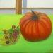 キョセンさんのカボチャの油彩画